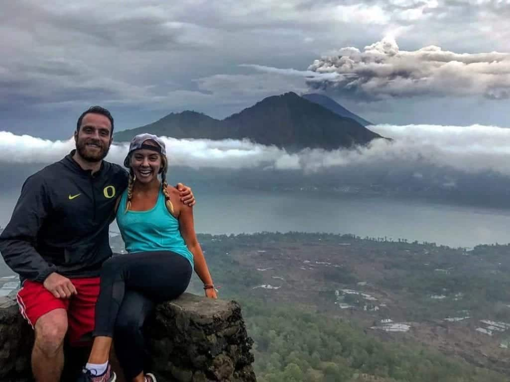 Dudefluencer: Mount Agung billowing behind us