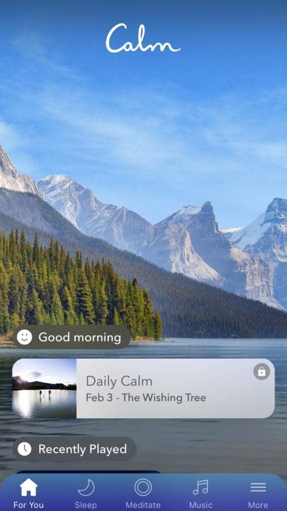 Dudefluencer: Calm App